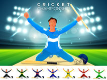 Cricket Championship concept with player. Stock Photo