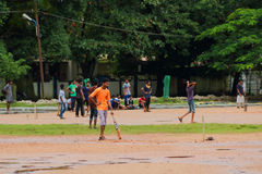 Cricket in Cochin(Kochin) of India Royalty Free Stock Images