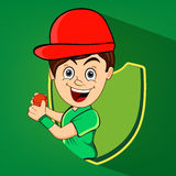Cricket concept with cute boy. Stock Images