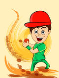 Cricket concept with cute boy. Stock Photo