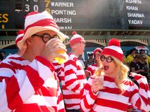 Cricket Costumes: Where's Wally Stock Photo