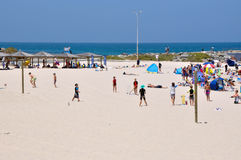 Cricket at Cottesloe Beach royalty free stock images