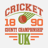 Cricket County Championship t-shirt Royalty Free Stock Photos