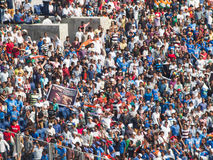 Cricket Crowd India. A scene from the One Day international cricket match played at Pune between India and Australia Stock Photography