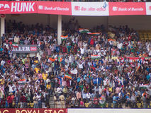 Cricket crowd Mexican wave. A cricket crowd attempts a Mexican wave in Nagpur Stock Photos
