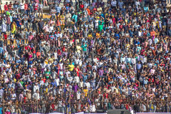 Cricket Crowd. People captured watching cricket in stadium