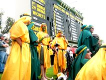 Cricket Crowd & Scoreboard Stock Image