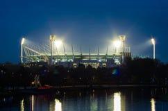 Cricket de Melbourne rectifié au crépuscule Photographie stock libre de droits