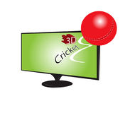 Cricket della TV 3d fotografia stock