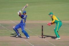 Cricket di un giorno internazionale Fotografia Stock Libera da Diritti
