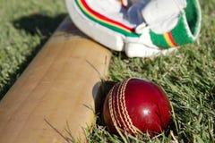 Cricket equipment. Royalty Free Stock Photos