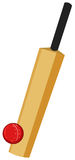 Cricket equipment with bat and ball. Illustration vector illustration