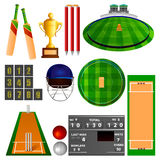 Cricket equipment. Easy to edit vector illustration of Cricket equipment Stock Images