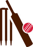 Cricket Equipment Icon Royalty Free Stock Photos