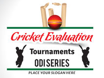 Cricket Evaluation Tournament Banner vector. Illustration Royalty Free Stock Images