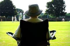 Cricket fan. Outdoor portrait of fan watching cricket Stock Photos