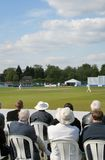 Cricket fans. Scene at First Class English cricket match royalty free stock photo