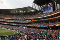 Cricket fans. At the MCG - Melbourne Cricket Ground Australia Royalty Free Stock Images