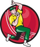 Cricket Fast Bowler Bowling Ball Side Stock Photography