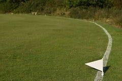 Cricket field boundary Stock Photo