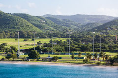 Cricket Field on the Coast of St Croix Royalty Free Stock Photo