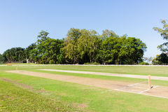 Cricket Field Pitch`s Wickets Grounds Royalty Free Stock Images