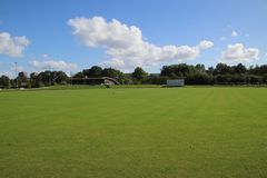 Cricket field at Sparta club in the Schollenbos forest in Capelle aan den IJssel.  stock photography