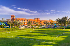 Cricket field at the tropical resort in Hurghada, Egypt Stock Photos