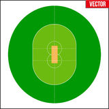 Cricket Field Vector illustration Royalty Free Stock Photography