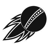 Cricket fire ball logo, simple style vector illustration