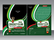 Cricket flyer template Royalty Free Stock Images