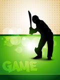 Cricket game. Vector stylish cricket game background design Royalty Free Stock Photo
