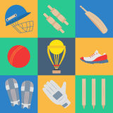 Cricket game  concept. Royalty Free Stock Images