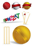 Cricket game concepts -  illustrations Royalty Free Stock Photos