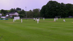 Cricket game stock video
