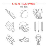 Cricket game vector concept. Royalty Free Stock Image
