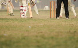 Cricket game. Was playing in field at Calcutta by boys royalty free stock images