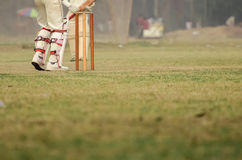 Cricket game. Was playing in field at Calcutta by boys royalty free stock photography