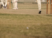 Cricket game. Was playing in field at Calcutta by boys stock photo