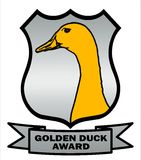 Cricket Golden Duck Award Shield Royalty Free Stock Image