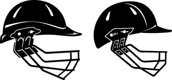 Cricket Helmet Set Stock Image