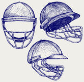 Cricket helmet Stock Image