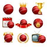 Cricket icon set Royalty Free Stock Photography