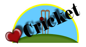 Cricket illustration. Stock Photo