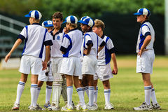 Cricket Junior Team Talk Royalty Free Stock Photos