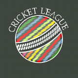Cricket League concept with colorful ball. Stock Photography