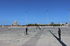 Cricket match in benghazi stock images