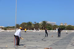 Cricket match in benghazi royalty free stock photo