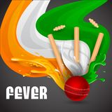Cricket Match. Easy to edit vector illustration of ball and stumps for cricket design Stock Image