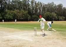 Cricket match royalty free stock image